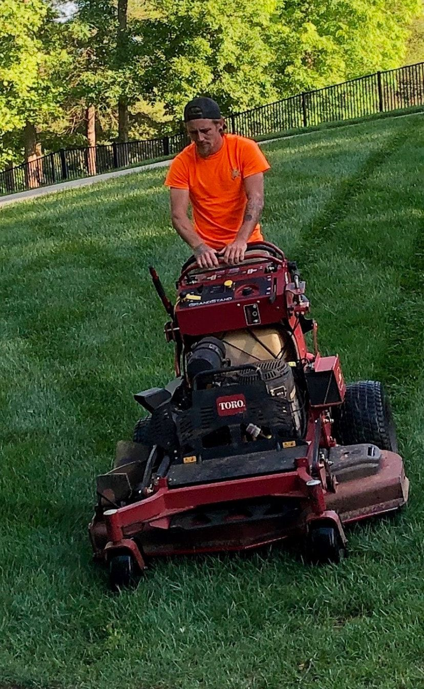 Picture residential lawn care maintenance grass cutting service hickory nc